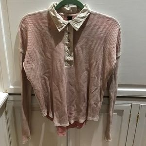Free People pink flannel.  great/worn cond.  XS